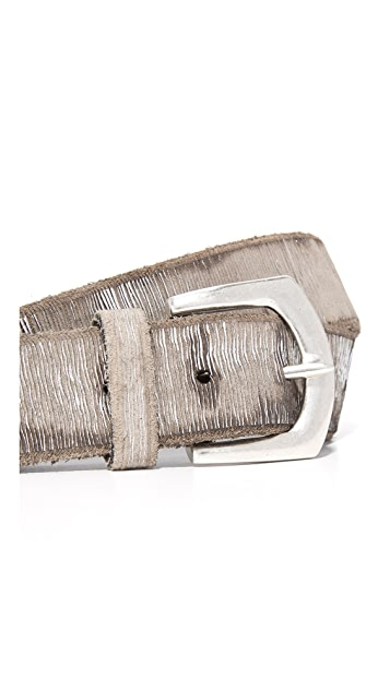 B. Belt Metallic Twill Print Belt