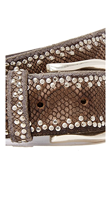 B. Belt Border Stud Python Print Belt