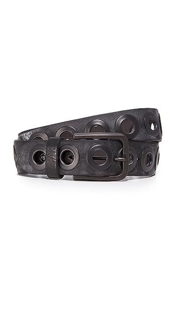 B. Belt Gunmetal Ring Belt