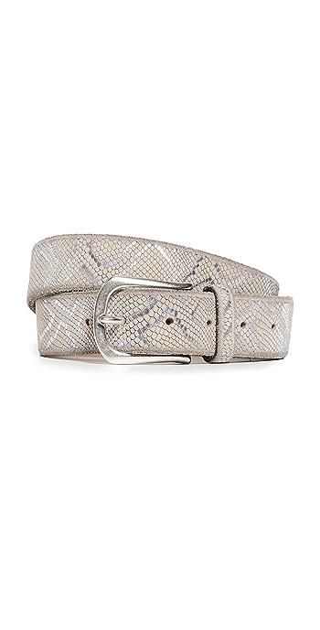 B. Belt Embossed Metallic Belt - Creme