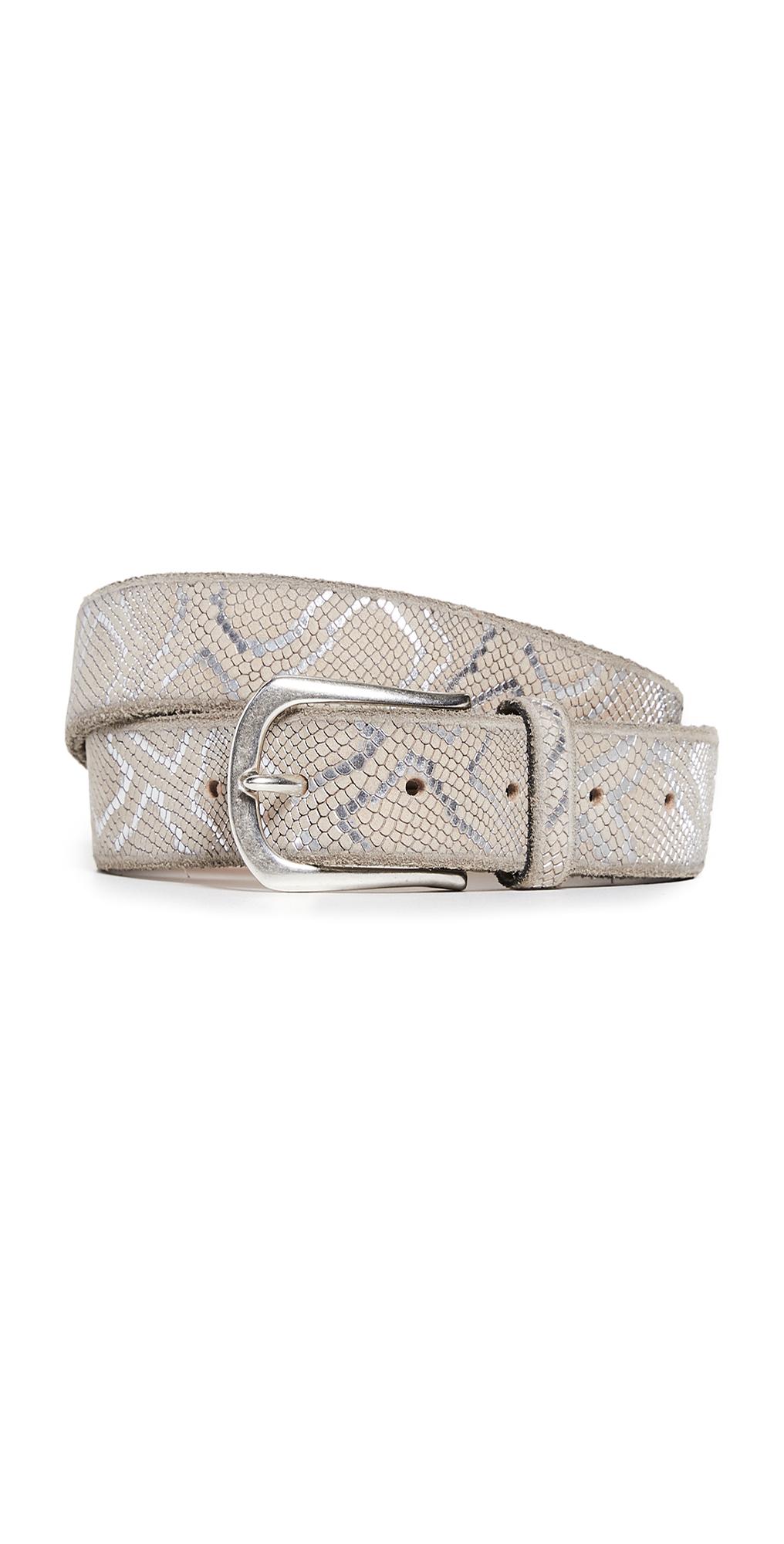 Embossed Metallic Belt