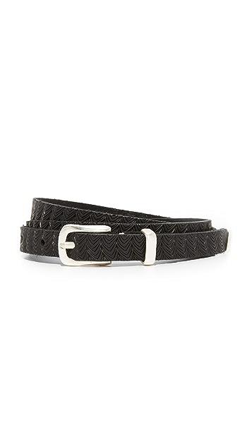 B. Belt Skinny Embossed Belt