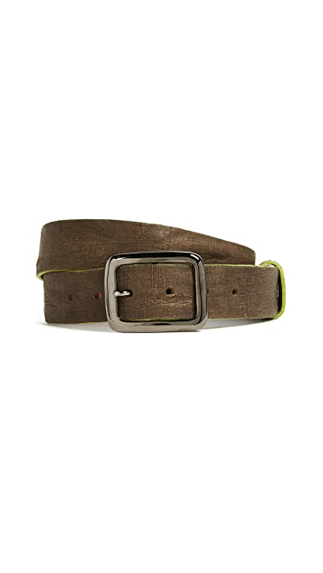 B. Belt Distressed Leather Belt