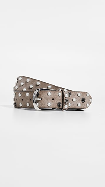 B. Belt Vintage Imitation Pearl / Flower Stud Belt