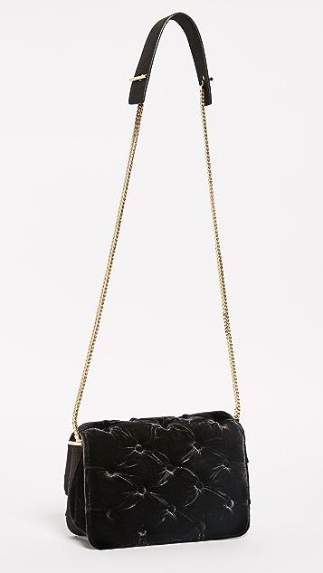 Benedetta Bruzziches Carmen Velvet Shoulder Bag
