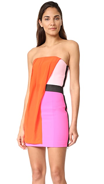 Barbara Bui Strapless Multicolor Dress