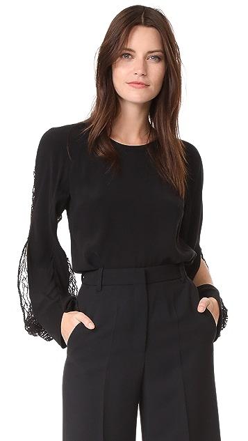 Barbara Bui Lace Sleeve Blouse