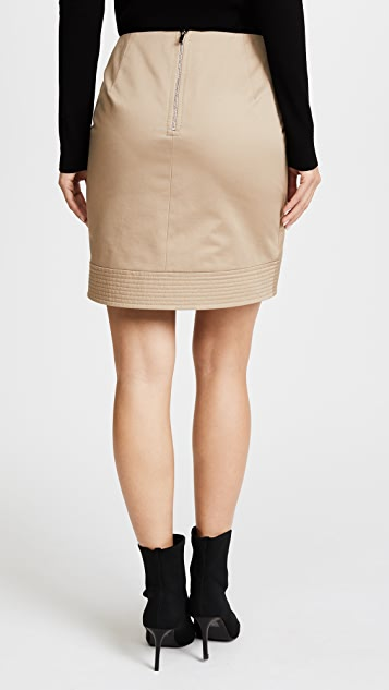 Barbara Bui Cotton Fold Skirt