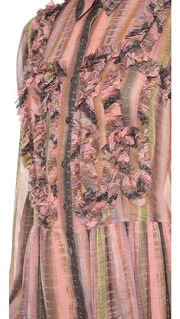 BCBGMAXAZRIA Leane Ruffle Shirtdress