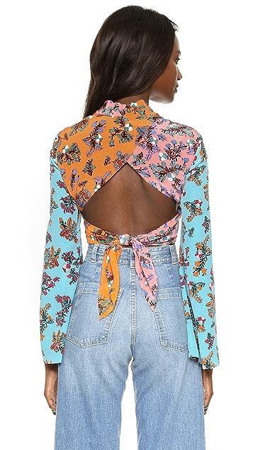 BCBGMAXAZRIA Cam Kimono Wrap Blouse