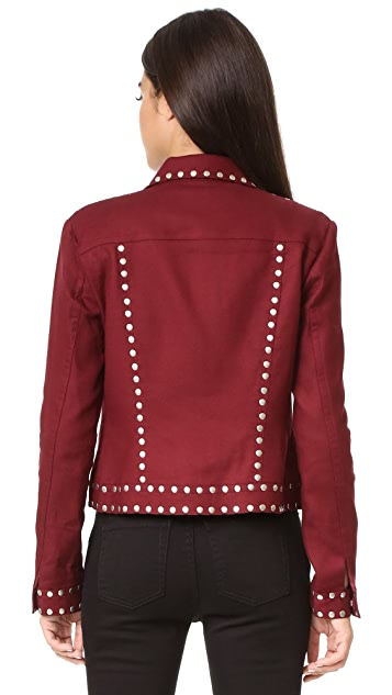 BCBGMAXAZRIA Patric Studded Jacket