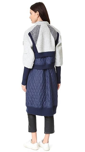 BCBGMAXAZRIA Sabra Combo Coat
