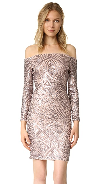 a44761db4cdd84 BCBGMAXAZRIA Embellished Off Shoulder Dress