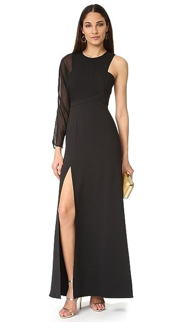BCBGMAXAZRIA One Shoulder Gown