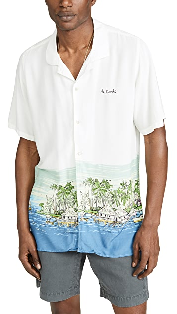Barney Cools Holiday Camp Collar Short Sleeve Shirt