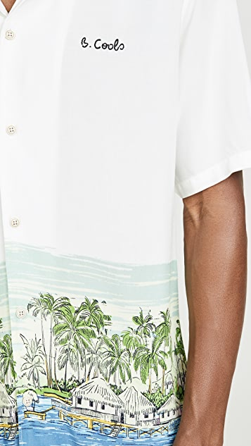 Barney Cools Holiday Camp Collar Short Sleeve Shirt