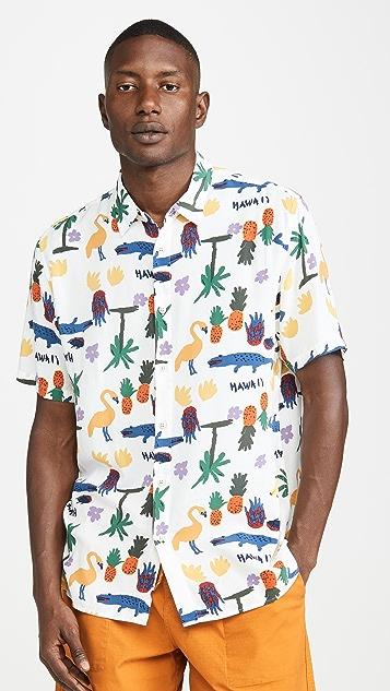Barney Cools Short Sleeve Holiday Shirt