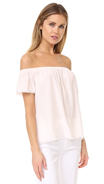 Bella Dahl Fray Hem Off Shoulder Top
