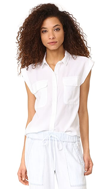Bella Dahl Flap Pocket Shirt