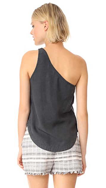 Bella Dahl Side Button One Shoulder Top