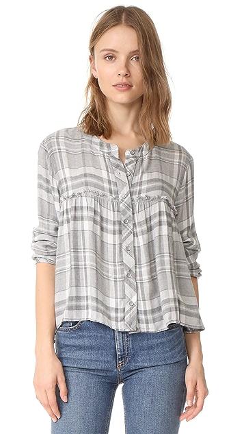 Bella Dahl Ruffle Button Down Shirt