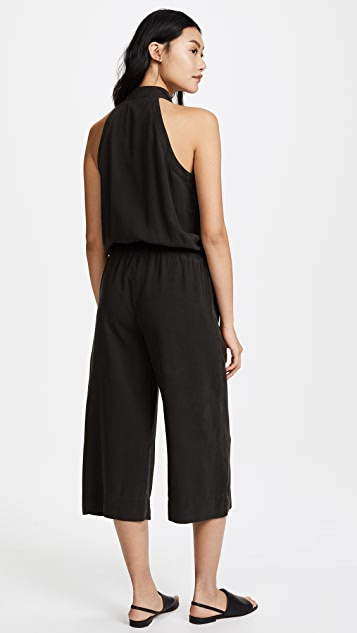 Bella Dahl Mock Neck Halter Jumpsuit