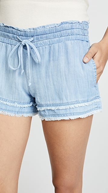 Bella Dahl Frayed Flowy Shorts