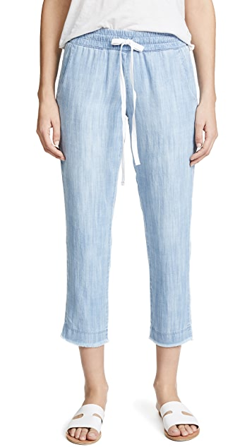 Bella Dahl Frayed Hem Trousers
