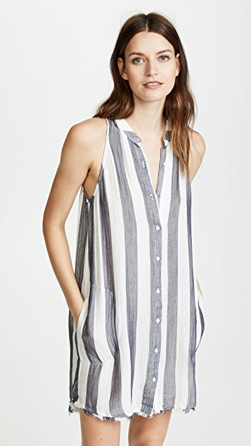 Bella Dahl Frayed Button Down Dress