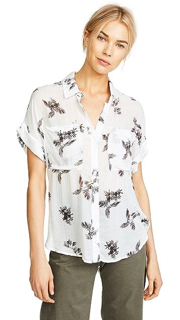 Bella Dahl Rolled Short Sleeve Shirt