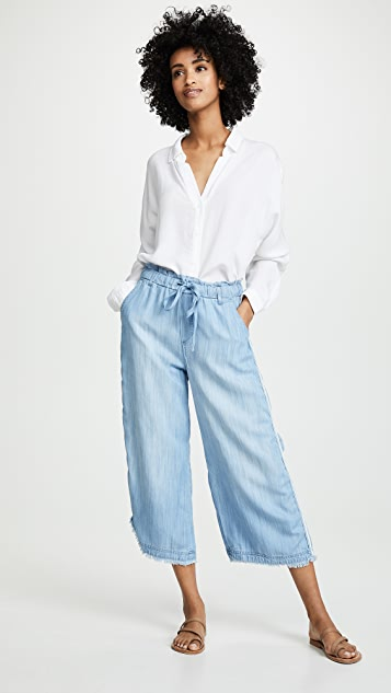 Bella Dahl Side Stripe Wide Leg Pants