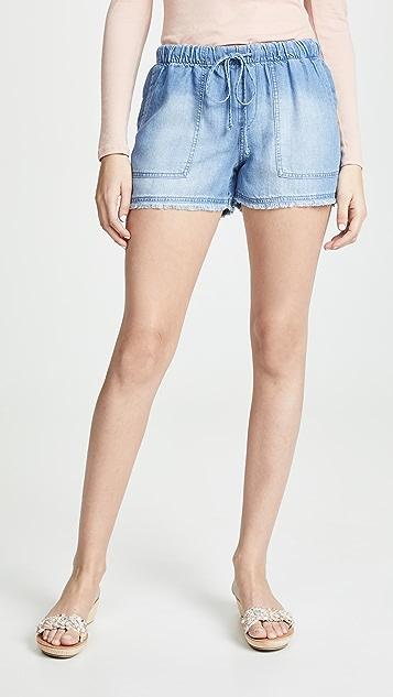Bella Dahl Frayed Hem Ombre Shorts
