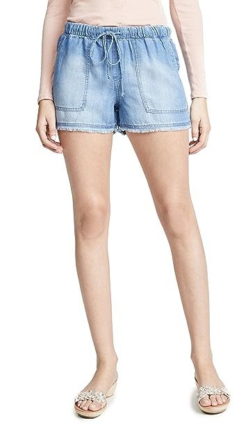 Bella Dahl Frayed Hem Ombré Shorts