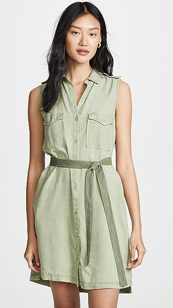Bella Dahl Patch Pocket Dress - Spring Vine