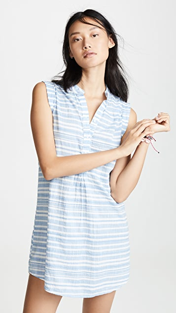 Bella Dahl Pleat Front Dress - Chambray Blue