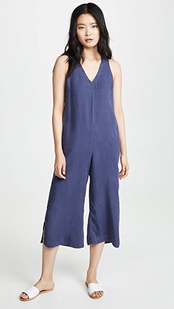 Bella Dahl V Neck Crop Jumpsuit
