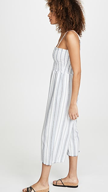 Bella Dahl Smocked Crop Wide Leg Jumpsuit