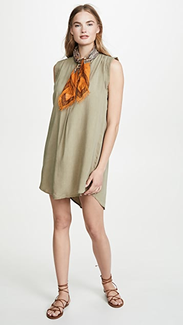 Bella Dahl Cap Sleeve Pleat Front Dress