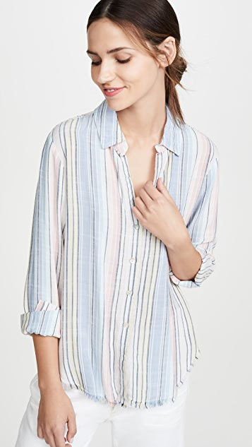 Fray Hem Button Down by Bella Dahl