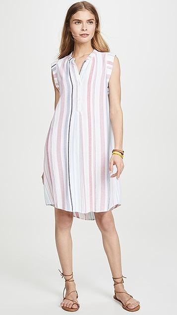 Bella Dahl Cap Sleeve Pleat Front Dress