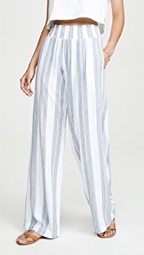 Smocked Wide Leg Pants