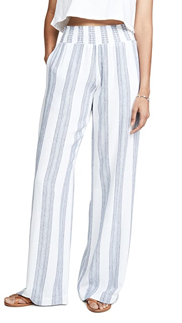 Bella Dahl Smocked Wide Leg Pants