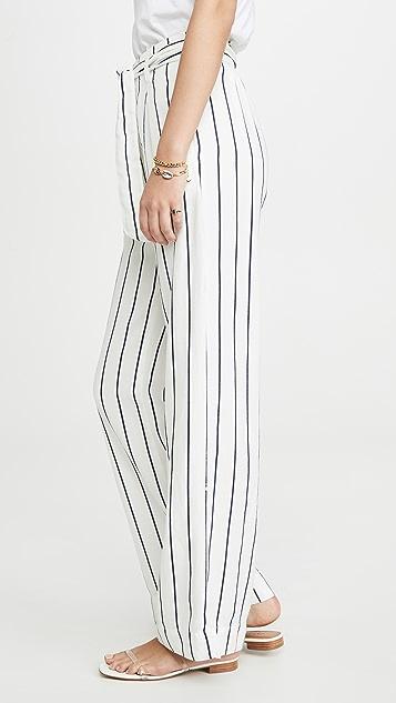 Bella Dahl Широкие брюки с поясом