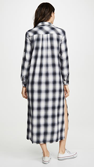 Bella Dahl Платье-рубашка длиной до пола