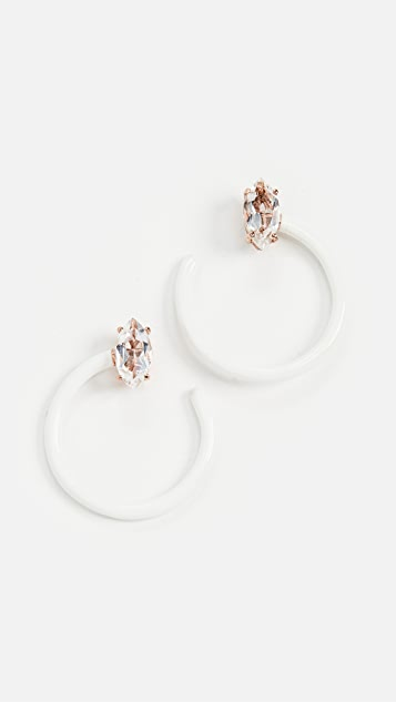 Bea Bongiasca Small Tendril Circle Earrings