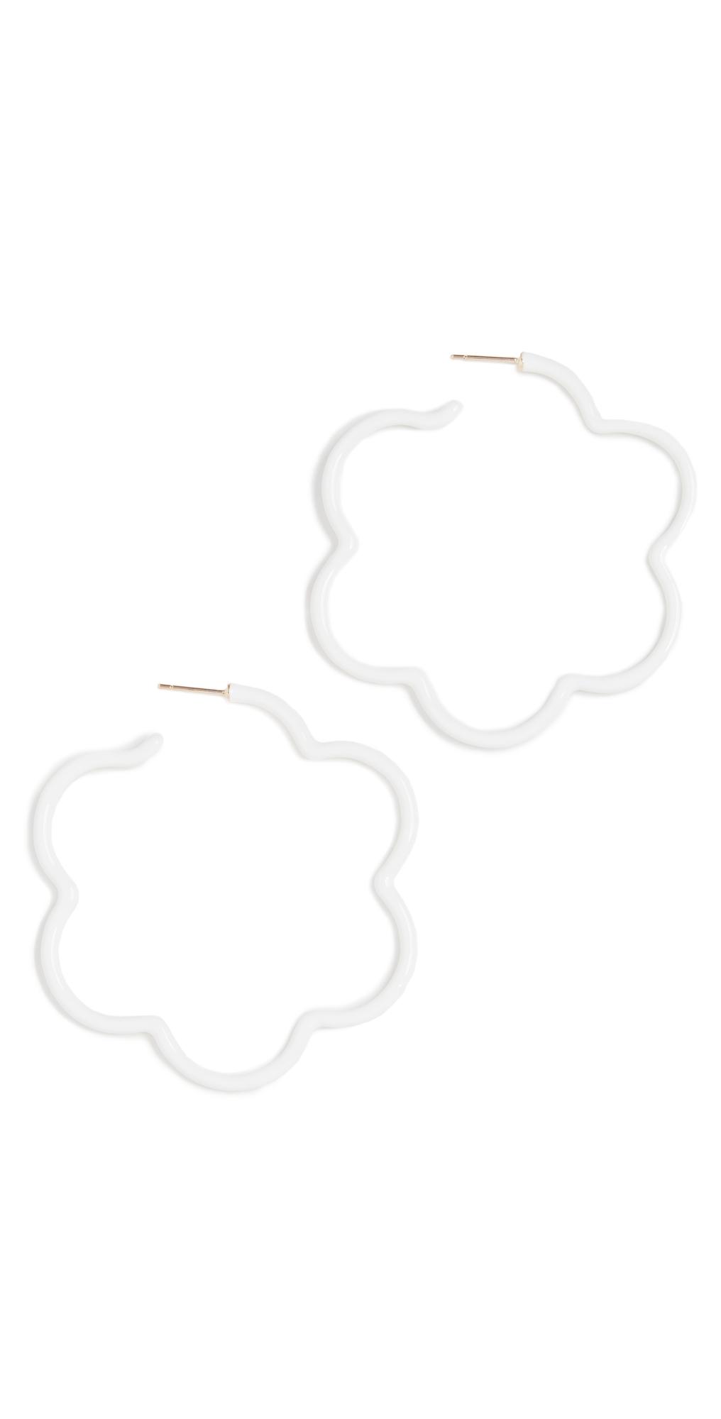 Two Tone Flower Power Earrings