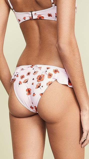 Beach Riot Ruffle Poppy Chloe Bikini Bottoms