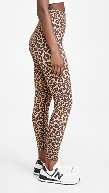Beach Riot Leopard Print Piper Leggings