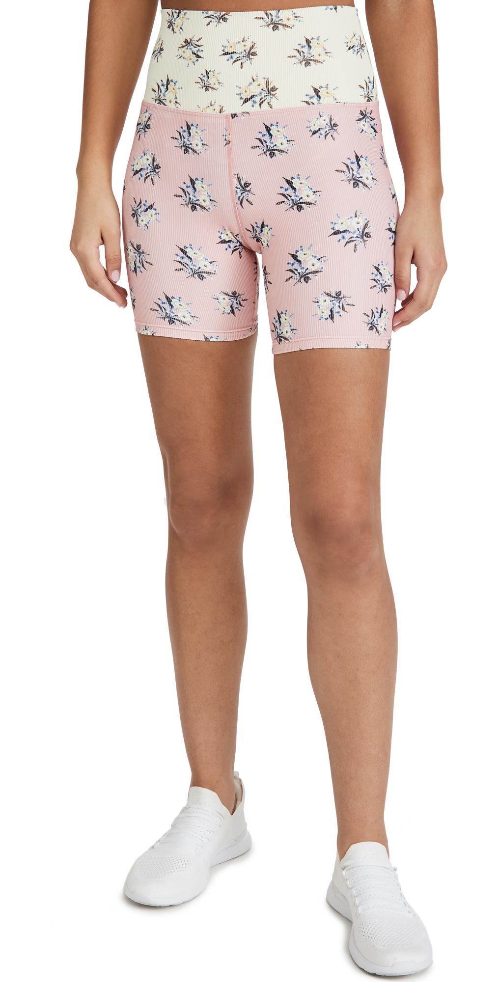 Beach Riot Floral Bike Shorts