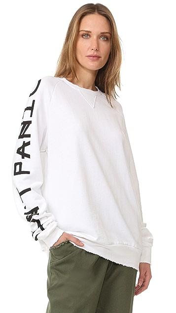 Baja East Don't Panic Long Sleeve Sweatshirt